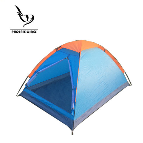 2 Person One-Layer Outdoor Wild Camping Dome Backpacking Camp Tents Shelters Waterproof well-ventilated Blue/Orange