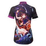 ILPALADINO Animation Game Character Girl Lovely Witch - Summer Biking Wear Breathable Outdoor Sports Gear Leisure Biking T-shirt Sports Clothes - Woman's Short-Sleeve Cycling Jersey NO.581