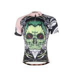 ILPALADINO Green-hair Skull -Sports Exercise Bicycling Pro Cycle Clothing Racing Apparel Outdoor Sports Leisure Biking Shirts - Mens Short-sleeve Jersey NO. 688