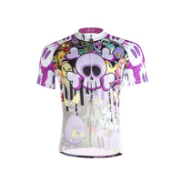Horror Skull& Monster Men's Short-Sleeve Cycling Jersey Bicycling Shirts Summer 698