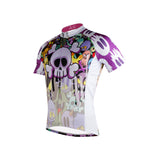 Ilpaladino Horror Skull& Monster Purple - Breathable Quick Dry Bicycling Shirts Summer Apparel Outdoor Sports Gear Wear - Men's Short-Sleeve Cycling Jersey  NO.698