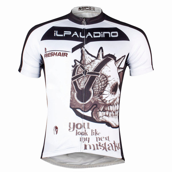 ILPALADINO Skull Listening Music - you look like my next mistake- Mountain Bike Fits Cycling Apparel for Summer Breathable Road Bike Shirt - Short-sleeve Men's Cycling Jersey NO.779