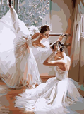FramelessPaint  Canvas Oil Painting for  Students, kids, Adults Beginner  Ballet Dancers with Brushes and  Pigment