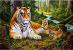 Wall Art Painting Tiger Printing the Picture Animal Pictures Oil for Home Modern Decoration Print Decor for Kitchen