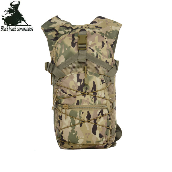 Outdoor Sports Backpack Tactical Shoulders Bag Daypack Knapsack Camo for Running, Hikking, Climbing, Cycling, Camping- Oxford Fabric-BL019