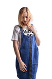 Fashion Women's Casual Slim A Line Suspender Denim Skirt Overall Dress With Pockets