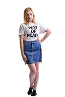 Women's Casual Raw Cut Hem Denim Jeans Short Skirt