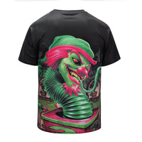 DX803029# Green Snake Clown Mens T-shirt Graphic 3D Printed Round-collar Short Sleeve Summer Casual Cool T-Shirts Fashion Top Tees