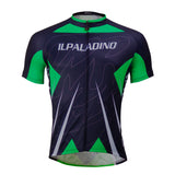 Green& Blue Men's Cycling Jersey Biking Shirt Black NO.760