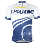 Wheel Men's Cycling Jersey Blue and White Bike Shirt Summer NO.782