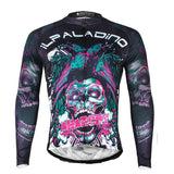 ILPALADINO Horror Skull - Comfortable Biking Apparel Exercise Bicycling Pro Cycle Clothing Racing Apparel Outdoor Sports Leisure Biking Shirts - Long-sleeve Men's Cycling Jersey 720