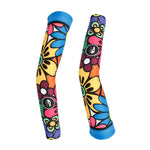 NO.X028 Bright Flowers Professional Outdoor Sport Wear Compression Arm Sleeve Oversleeve Pair Breathable UV Protection Unisex