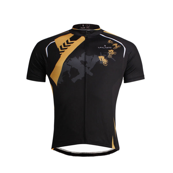 Road Sign Black Cyclist Cycling Jersey Men's Short-Sleeve  NO.645