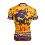 Men's Cycling Jersey Dragon Imperial Robes Jersey  Bike Shirt Short Sleeve NO.634