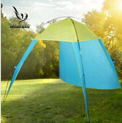 Triangular Tent Shade Canopy Outdoor Travel Beach Oceaside Seaside Sun Shelter Camping Family Picnic BBQ Festival Party Hiking Holiday - Waterproof and Windproof FOR 5-8 Person