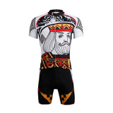 Poker Face Playing Card Diamonds King Men's Cycling Jersey/Suit Summer Face Cards Court Cards NO.638