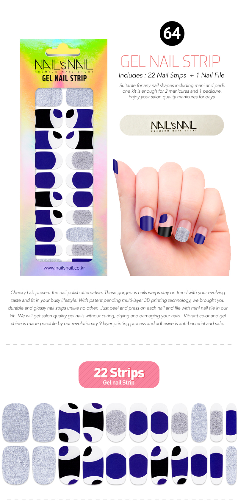 Gel Nail Strips 64 Cheeky Lab Sticker Strip Our Instant Shine Are Cruelty Free Safe And Innovative Unlike Other Wraps Nailsnail Go Through 9 Layers Of Printing