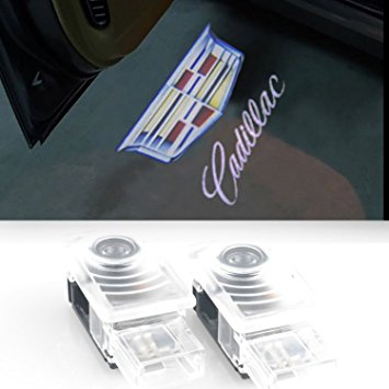 2 PCS DOOR WELCOME LIGHTS GHOST SHADOW CADILLAC LOGO-CHP-009AP