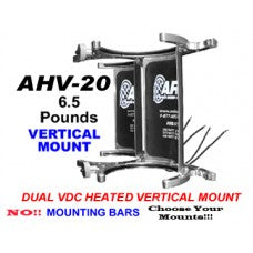 10/15 LBS DUAL BOTTLE HEATED BRACKET VERTICAL MOUNT-CHP-AHV20