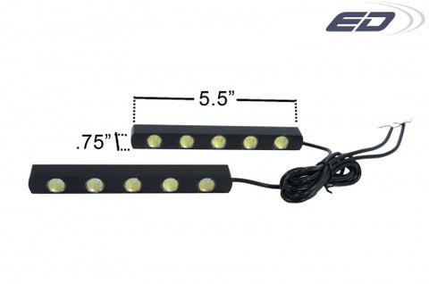 CADILLAC UNIVERSAL LED DAYTIME RUNNING LIGHT-2 PIECE-CHP-BDKT0039