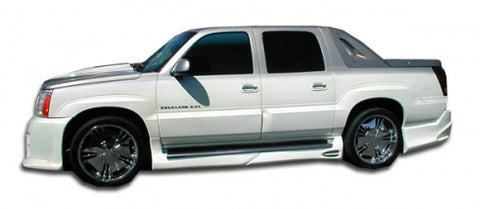 2002-2006 CADILLAC ESCALADE EXT DURAFLEX PLATINUM SIDE SKIRTS ROCKER PANELS-4 PIECES-CHP-BDKT0074
