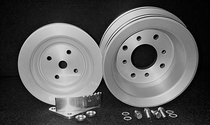 CADILLAC 472 500 CUSTOM BILLET PULLEY SET W/ TIMING MARKER-CHP-BL57