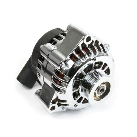 GM LS CAR ALTERNATOR CS130D STYLE HIGH OUTPUT 180 AMP CHROME-CHP-LSX0154