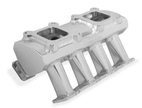 HOLLEY SNIPER HI-RAM LS1 CARBURETED INTAKE MANIFOLD-DUAL QUAD-SILVER FINISH CHP-LSX0708