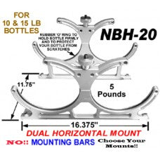 CHP-NBH-20-DUAL 10/15 NITROUS BOTTLE ANODIZED ALUMINUM BILLET BRACKET