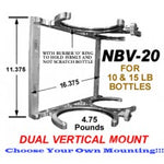 CHP-NBV-20-DUAL 10/15 NITROUS BOTTLE ANODIZED ALUMINUM BILLET BRACKET