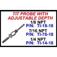 CHP-TI76-18-7/16 NPT TIT PROBE W/ ADJUSTABLE DEPTH