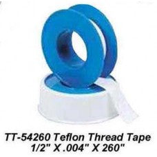 "CHP-TT-54260- TEFLON THREAD TAPE 1/2"" X .004"" X 260"""
