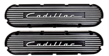 "CADILLAC 472 500 RAISED ""1949"" CADILLAC SCRIPT & FINS VALVE COVERS-472/500- **NEW**-CHP-BL76"