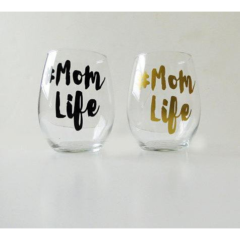 The Golden Type - Mom Life Stemless Wine Glass