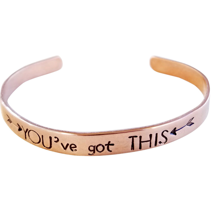 You've Got This (Arrows) Mantra Cuff