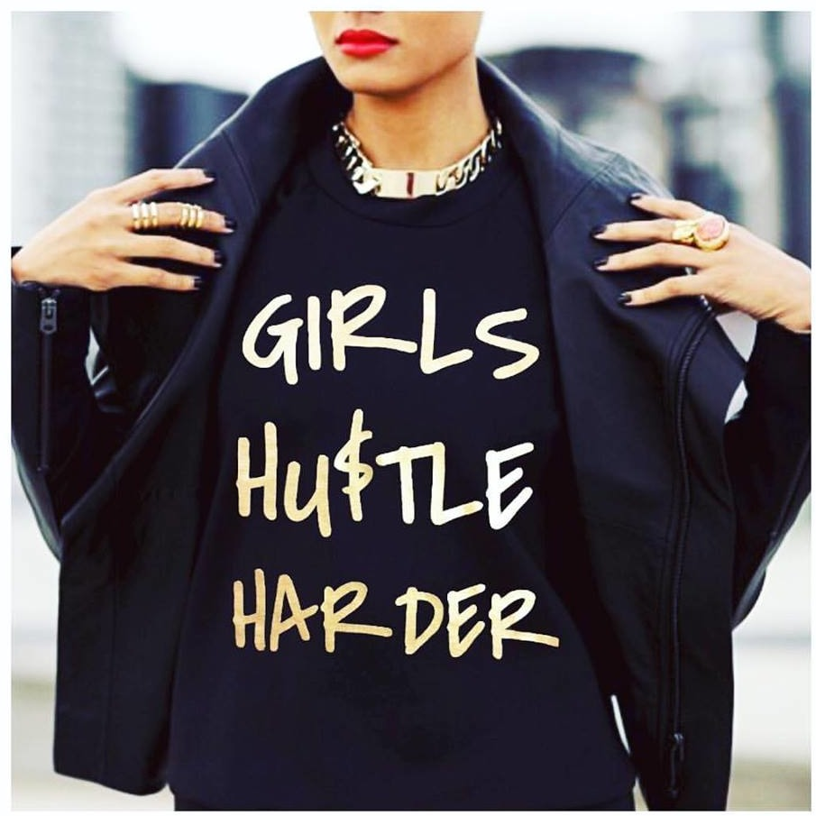 Girls Hustle Harder Tee