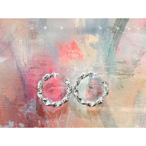 Twist Turn Earrings (Sliver)