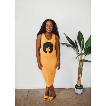 My Fro Dress (yellow)