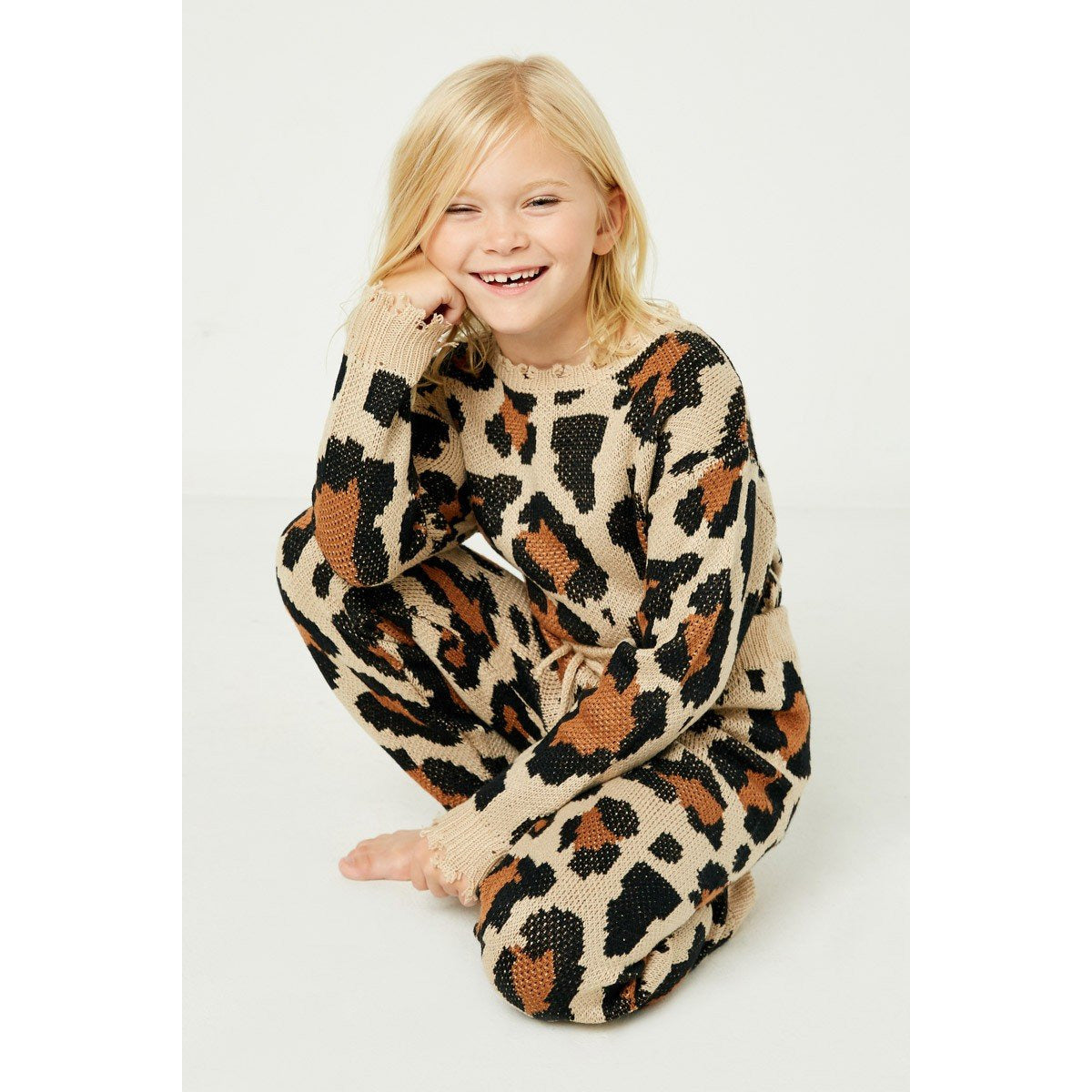 Cozy Leopard Sweater (Kids)