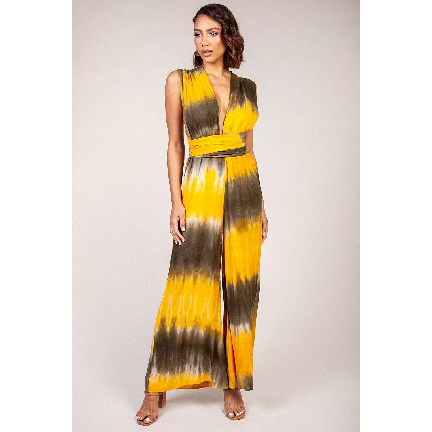Tie dye Jumpsuit ( yellow)