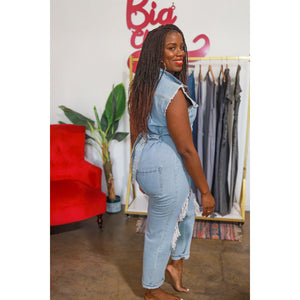 Blues Denim Jumpsuit