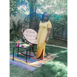 Lounge Wear Maxi Dress (Yellow)