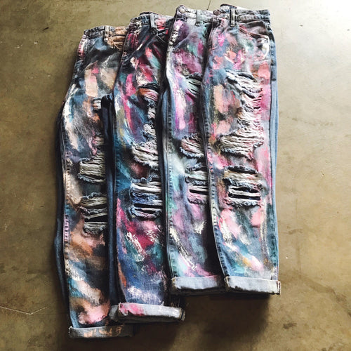 Splatter Girlfriend Jeans