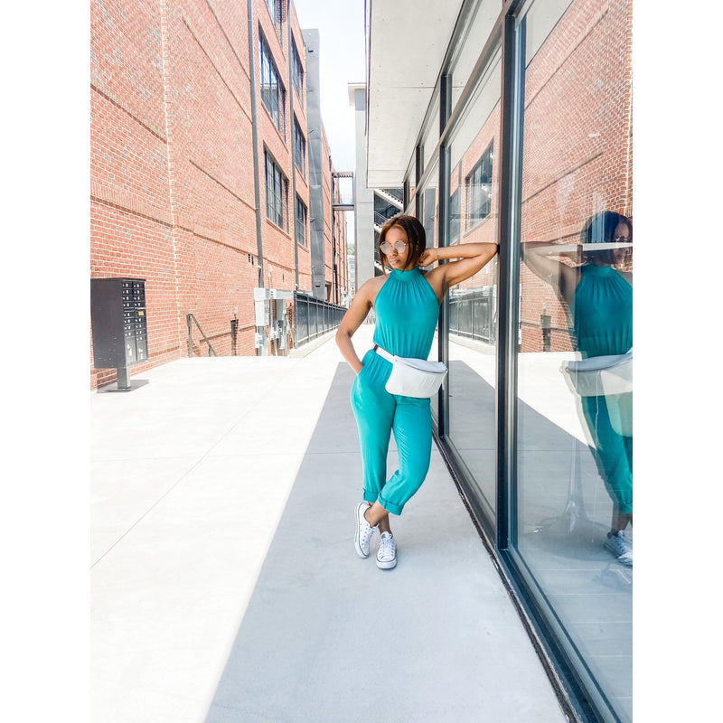 CJ  Teal Jumpsuit