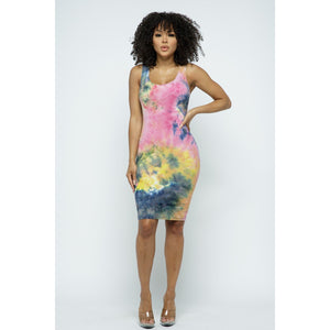 Tina Dress (Tie dye)
