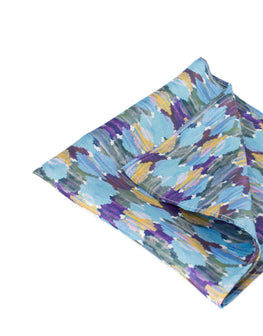 Blue ocean watercolour print pocket square
