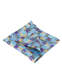 Shades of blue ocean pocket square