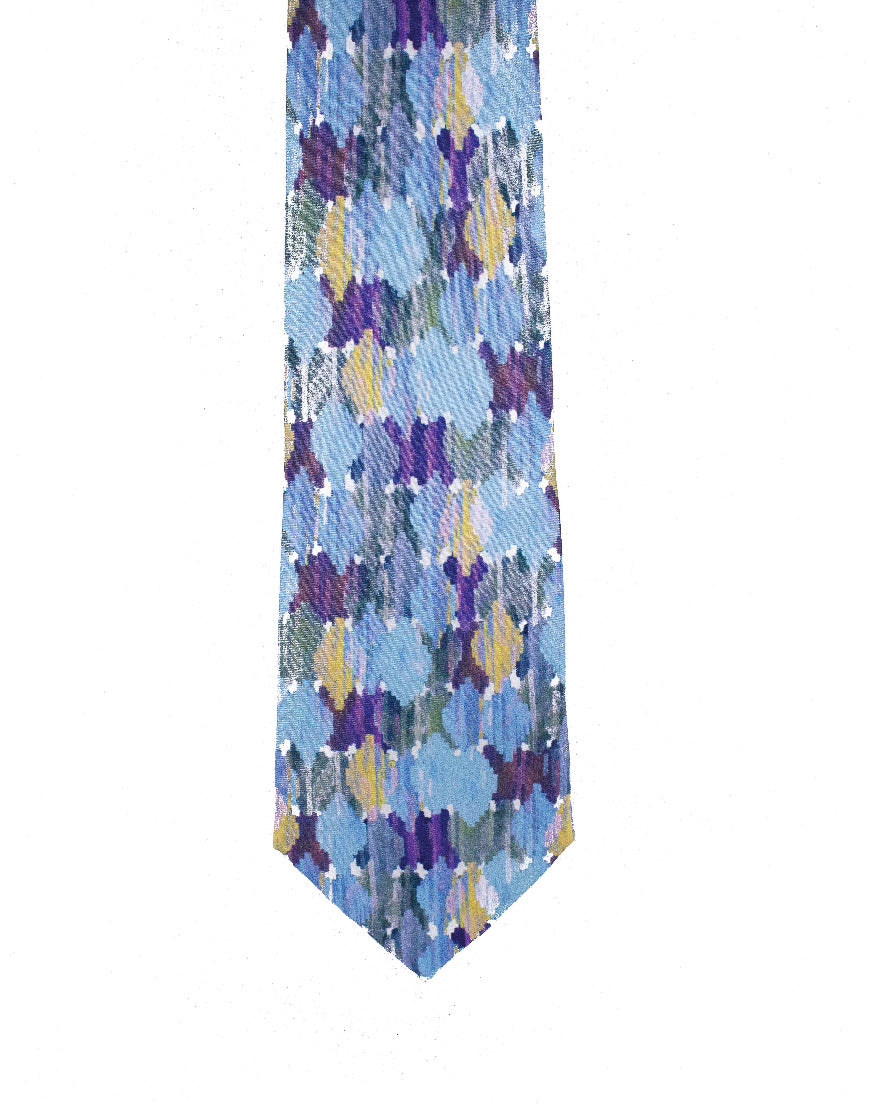 Striking 100% silk watercolour tie