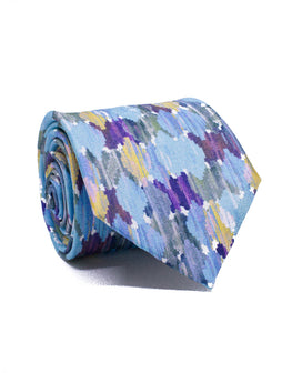 Mr. Burano Blue Ocean Watercolour Tie