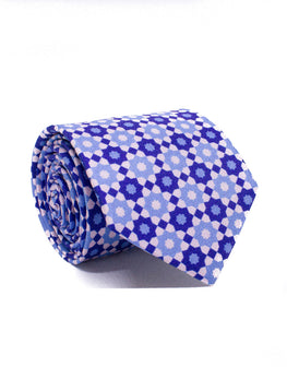 Mr. Cairo Blue and Pink Geometric Tie